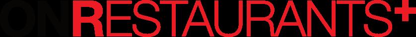ONRestaurants+ logo black red